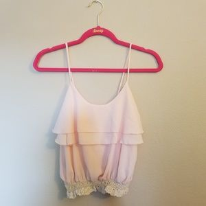 Blush flowy Top 🌸